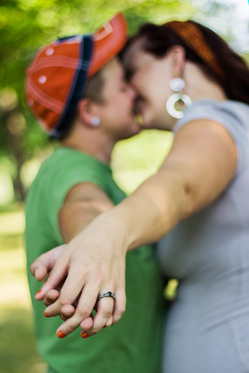 Erin and Ashley – Engagement Photos – Battle Creek, Michigan