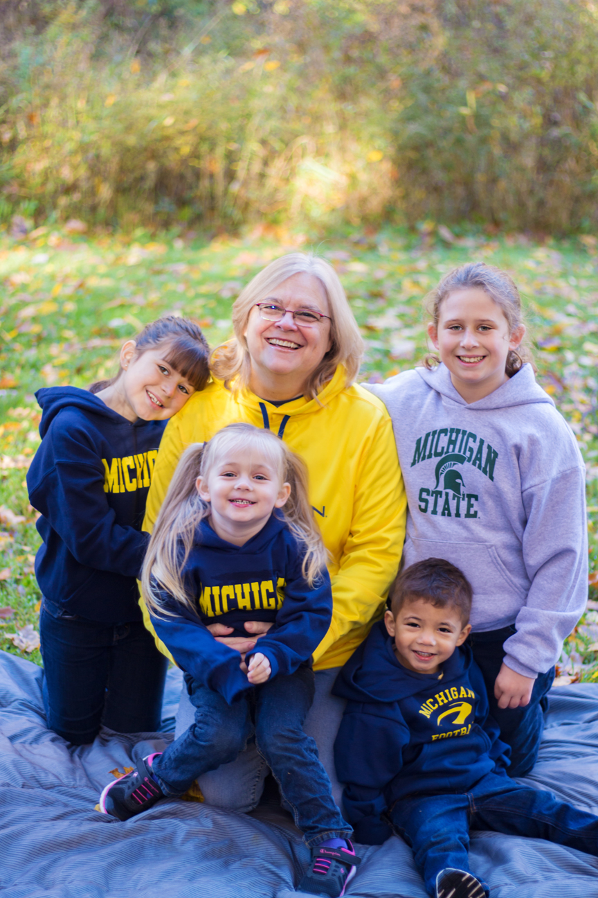 Cheryl and Grandkids – Battle Creek, Michigan
